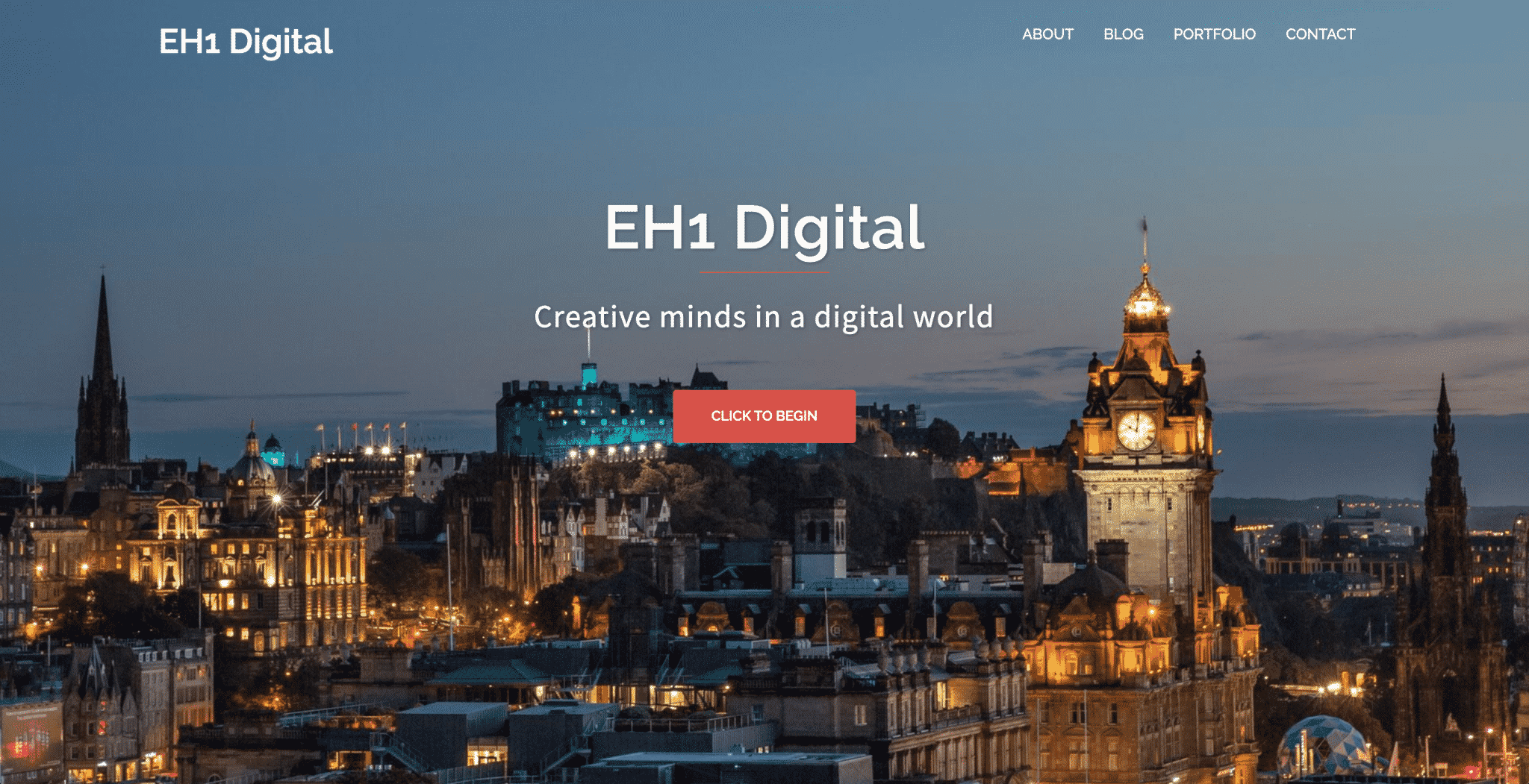 A showcase of a website created by KY Designs for EH1 Digital
