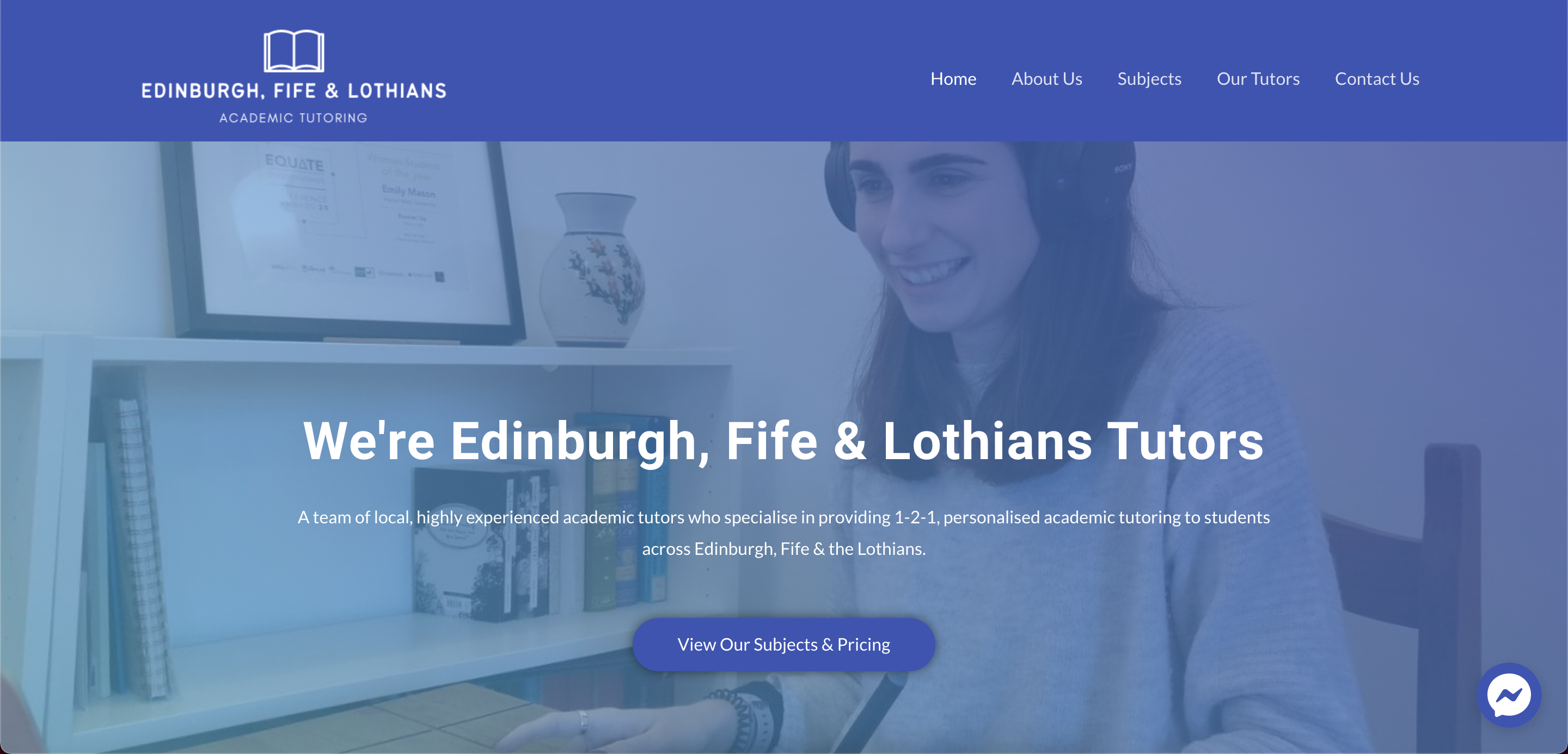 EFL Tutors website created by KY Designs on a budget