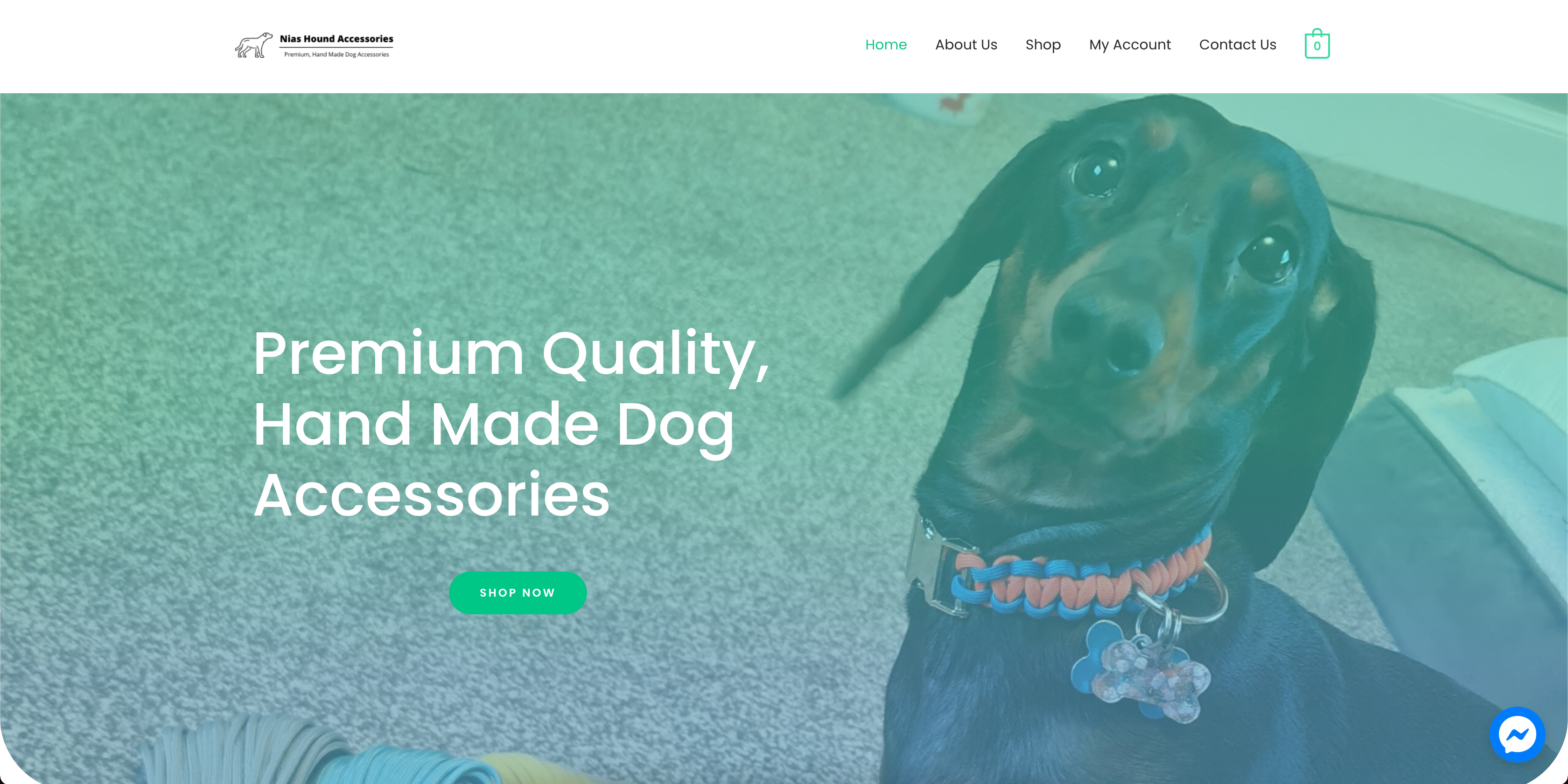 Nias Hound Accessories ecommerce web design by KY Designs in Fife.